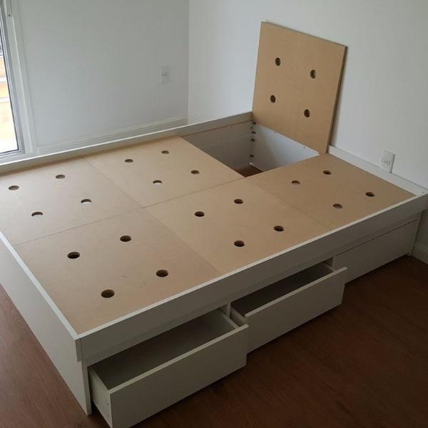 Perfecto Cama De Plataforma Sin Terminar Con Muebles De Cajones ...