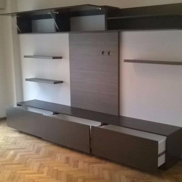 mueble para living rack modular para tv carpintero en On muebles de living montevideo