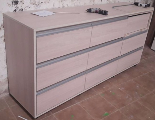 Mueble aparador para cocina en mdf melaminico carpintero for Muebles de cocina montevideo