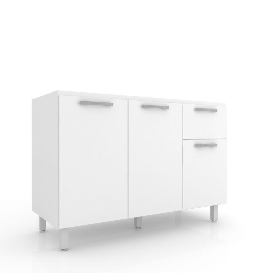 Bajo mesada eco en color blanco art culo con medidas for Medidas estandar de muebles bajos de cocina