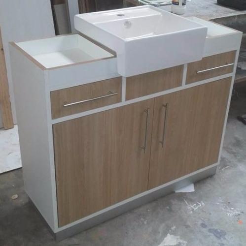 Mueble de ba o estructura en mdf melaminico carpintero en for Muebles bano montevideo