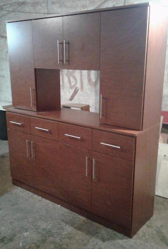 Mueble aparador de cocina en melaminico cedro carpintero for Muebles de cocina montevideo