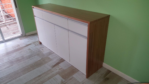 Mueble aparador armario de cocina en eulaliptus for Muebles de cocina montevideo