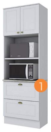Mueble cocina auxiliar MDF en color artículo con medidas estan...