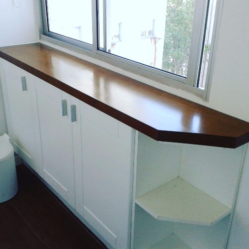 mueble aparador para ba o mesada en fingert carpintero On muebles de bano montevideo