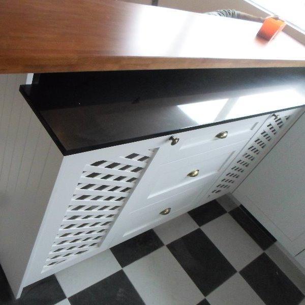 Muebles de cocina a medida mdf 18mm bisagras carpintero for Muebles de cocina montevideo